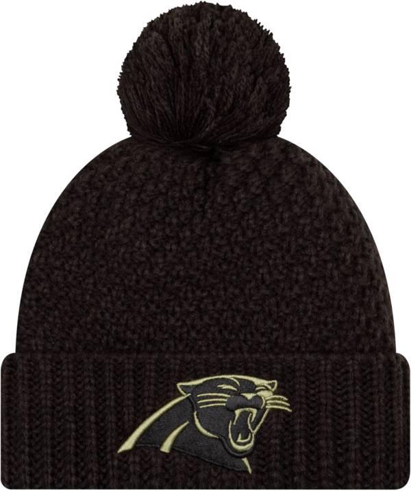 New Era Women's Salute to Service Carolina Panthers Black Pom Knit Hat product image