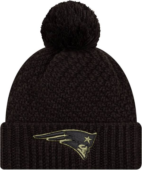 New Era Women's Salute to Service New England Patriots Black Pom Knit Hat product image