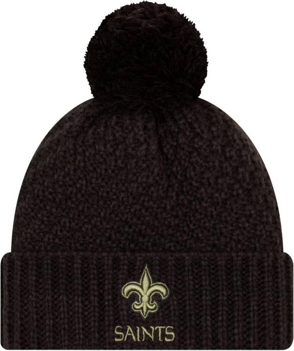 New Era Women's Salute to Service New Orleans Saints Black Pom Knit Hat product image