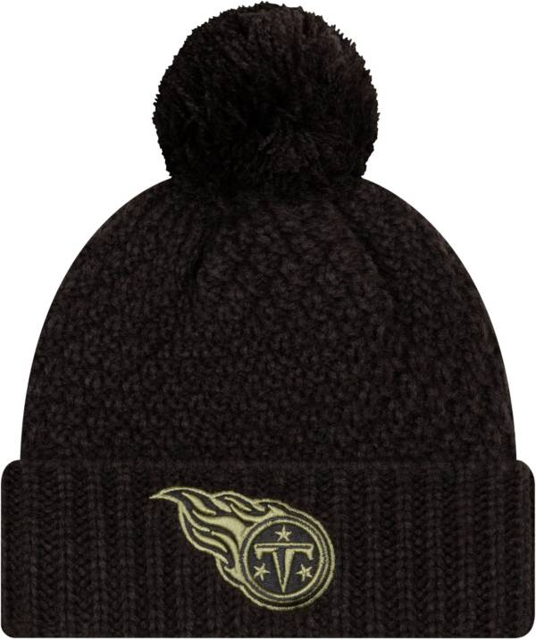 New Era Women's Salute to Service Tennessee Titans Black Pom Knit Hat product image