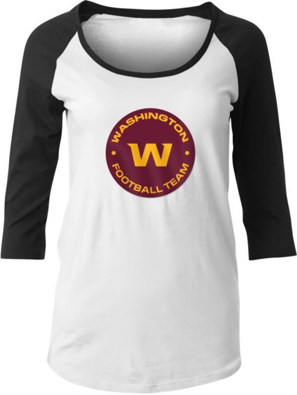 New Era Women's Washington Football Team White/Black Raglan T-Shirt product image