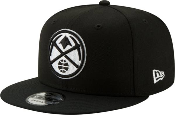 New Era Men's Denver Nuggets Black 9Fifty Adjustable Snapback Hat product image