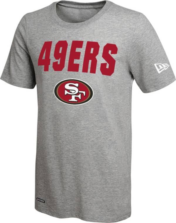 New Era Men's San Francisco 49Ers Grey Dri T-Shirt product image