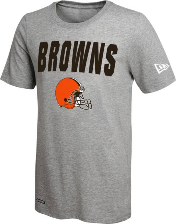 New Era Men's Cleveland Browns Grey Dri T-Shirt product image