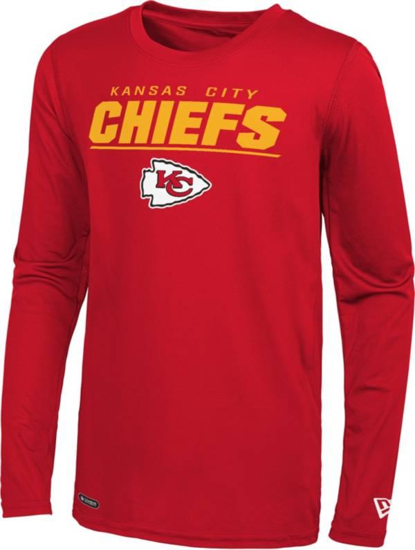 New Era Men's Kansas City Chiefs Red Poly Long Sleeve T-Shirt product image