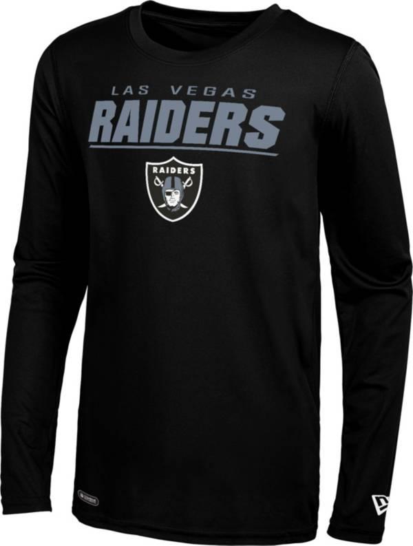 New Era Men's Las Vegas Raiders Black Poly Long Sleeve T-Shirt product image