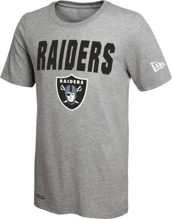 New Era Men's Las Vegas Raiders Grey Dri T-Shirt product image