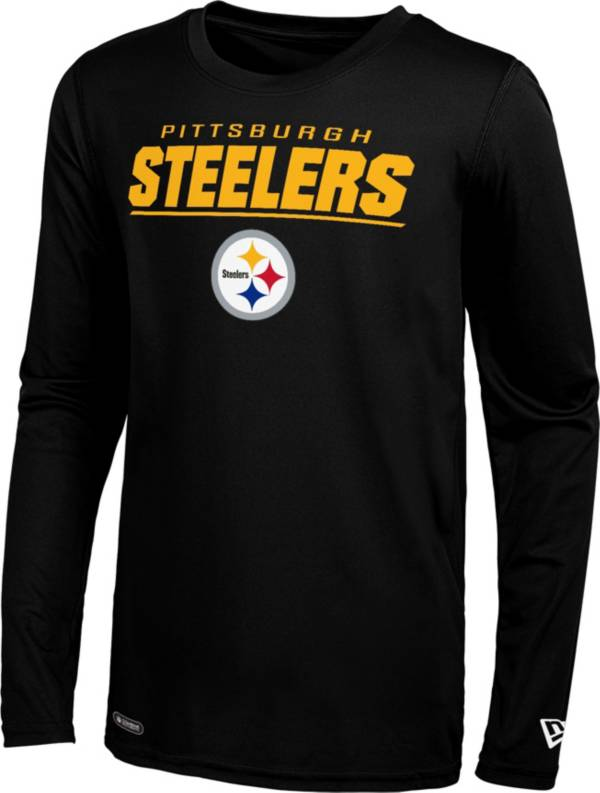 New Era Men's Pittsburgh Steelers Black Poly Long Sleeve T-Shirt product image