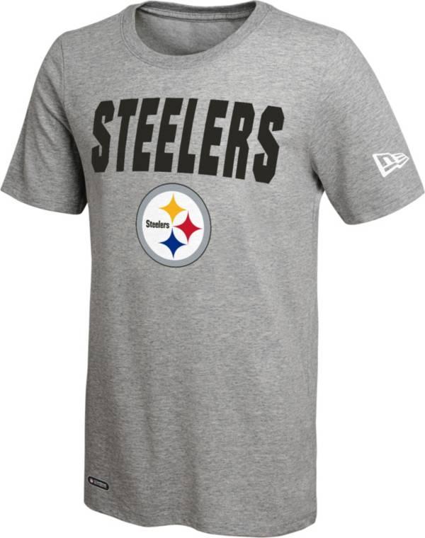 New Era Men's Pittsburgh Steelers Grey Dri T-Shirt product image