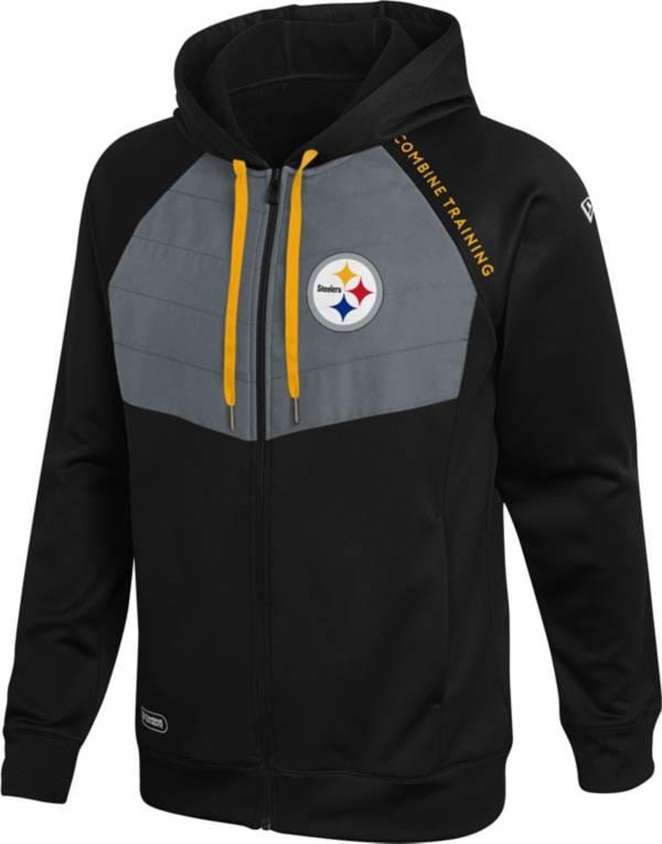 New Era Men's Pittsburgh Steelers Black Long Sleeve Full-Zip Jacket product image
