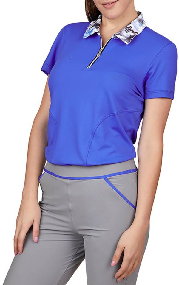 Sofibella Women's Dreamscape Short Sleeve Polo product image