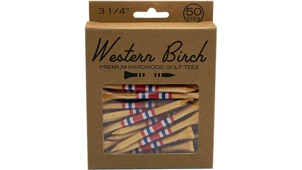 "Western Birch 3.25"" Brave and Free Golf Tees - 50 Pack product image"