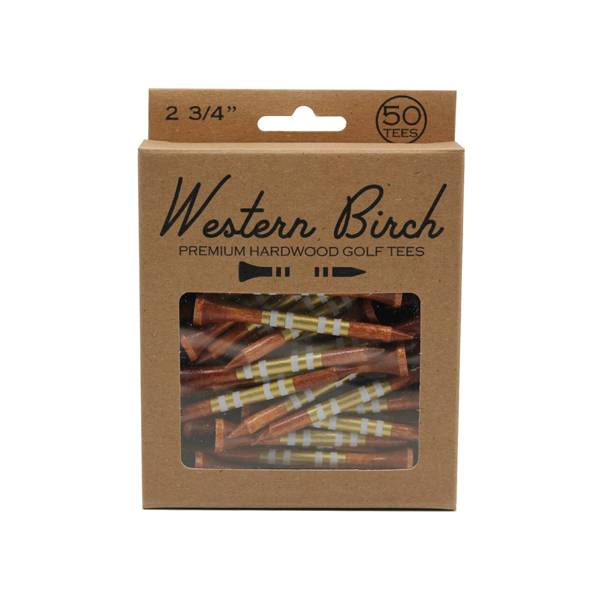 "Western Birch Gold Dark Stain 2.75"" Golf Tee – 50 Pack product image"