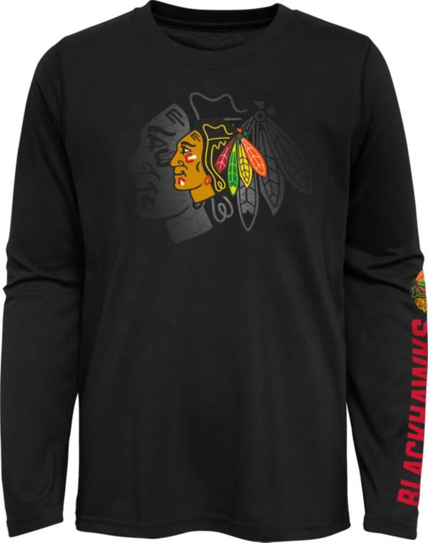 NHL Youth Chicago Blackhawks Stop Clock Black Long Sleeve T-Shirt product image