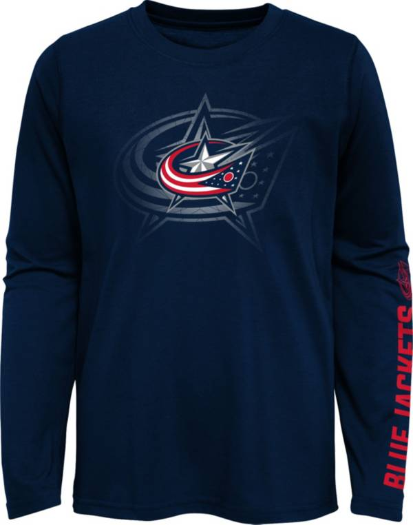 NHL Youth Columbus Blue Jackets Stop Clock Navy Long Sleeve T-Shirt product image