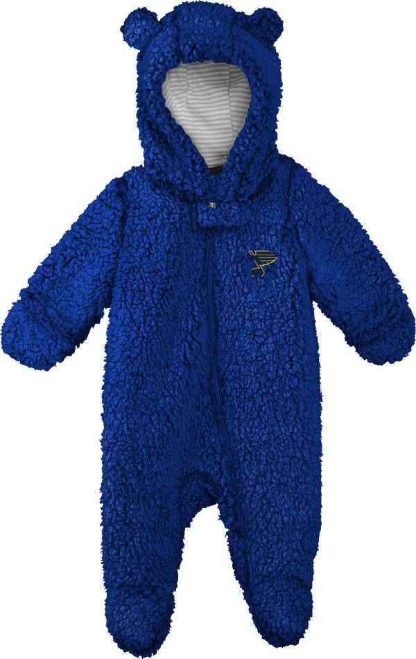 NHL Toddler St. Louis Blues Nap Teddy Fleece Footed Royal Onesie product image