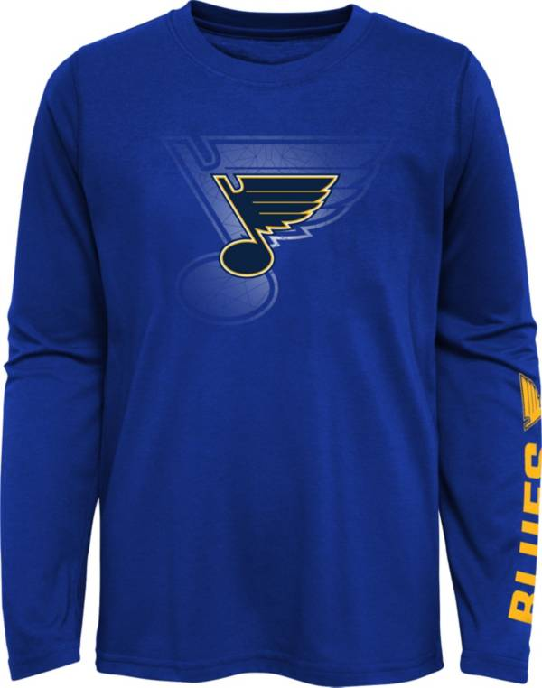 NHL Youth St. Louis Blues Stop Clock Blue Long Sleeve T-Shirt product image