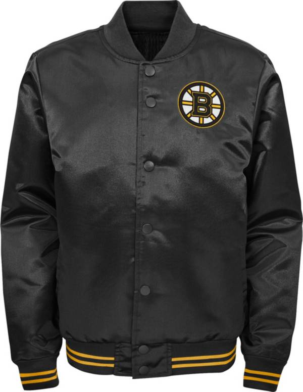 NHL Youth Boston Bruins Gifted Goal Black Button Down Jacket product image
