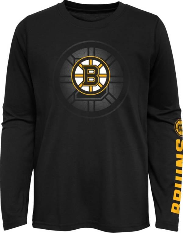 NHL Youth Boston Bruins Stop Clock Black Long Sleeve T-Shirt product image