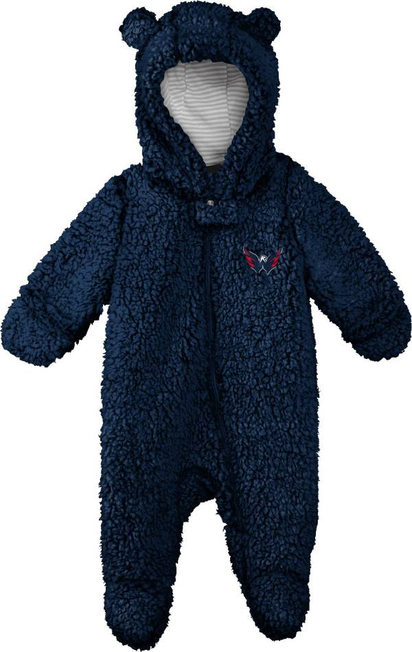 NHL Toddler Washington Capitals Nap Teddy Fleece Footed Navy Onesie product image
