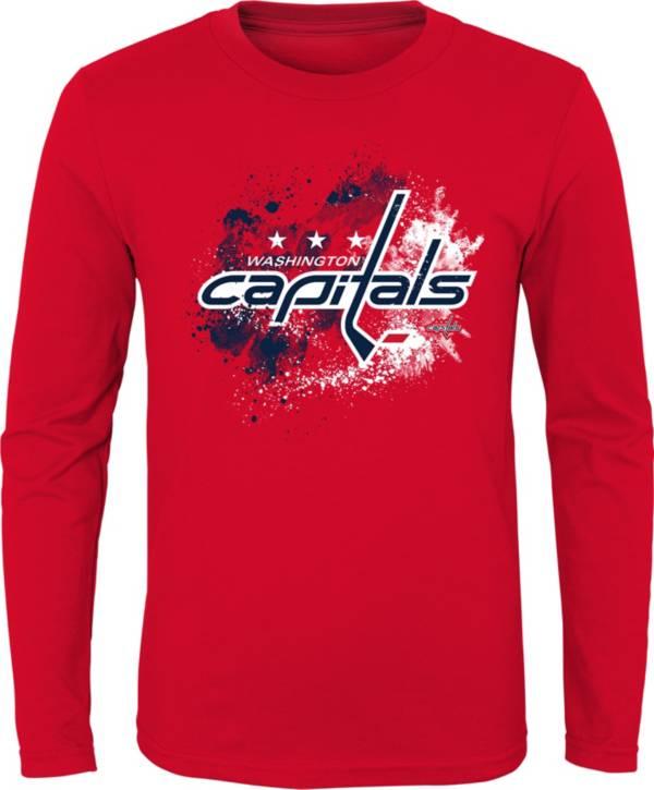 NHL Youth Washington Capitals Splashin' Red Long Sleeve Shirt product image