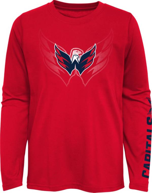 NHL Youth Washington Capitals Stop Clock Red Long Sleeve T-Shirt product image
