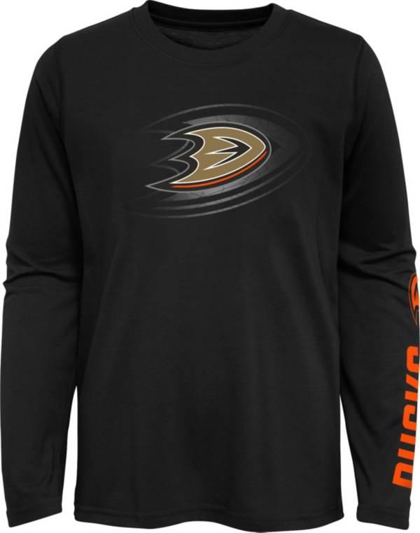 NHL Youth Anaheim Ducks Stop Clock Black Long Sleeve T-Shirt product image