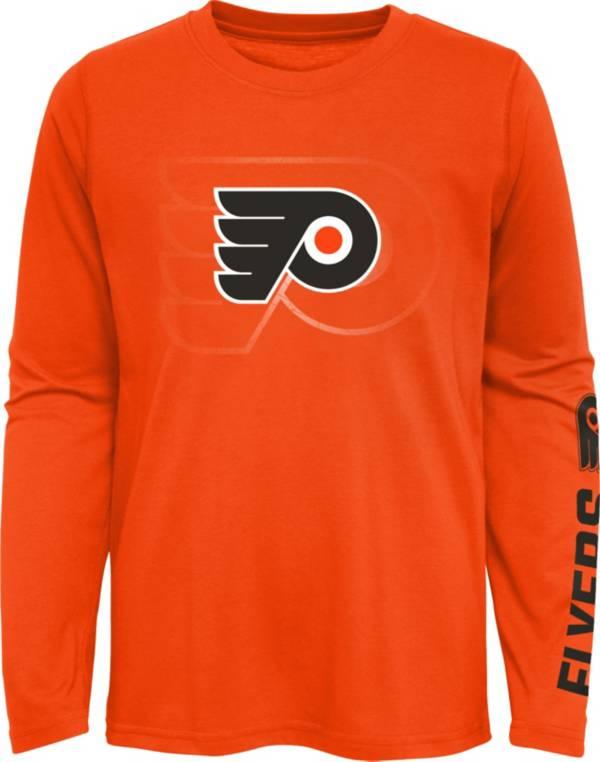 NHL Youth Philadelphia Flyers Stop Clock Orange Long Sleeve T-Shirt product image