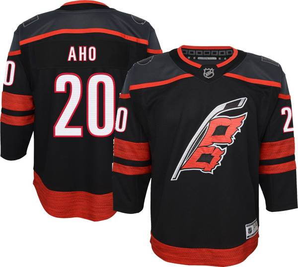 NHL Youth Carolina Hurricanes Sebastian Aho #20 Black Premier Jersey product image
