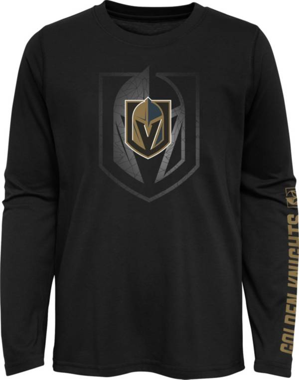 NHL Youth Las Vegas Golden Knights Stop Clock Black Long Sleeve T-Shirt product image