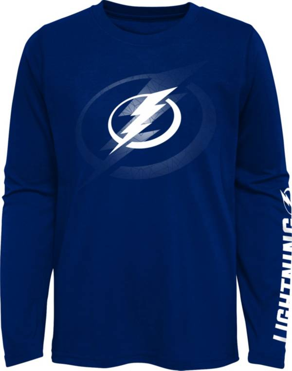 NHL Youth Tampa Bay Lightning Stop Clock Blue Long Sleeve T-Shirt product image