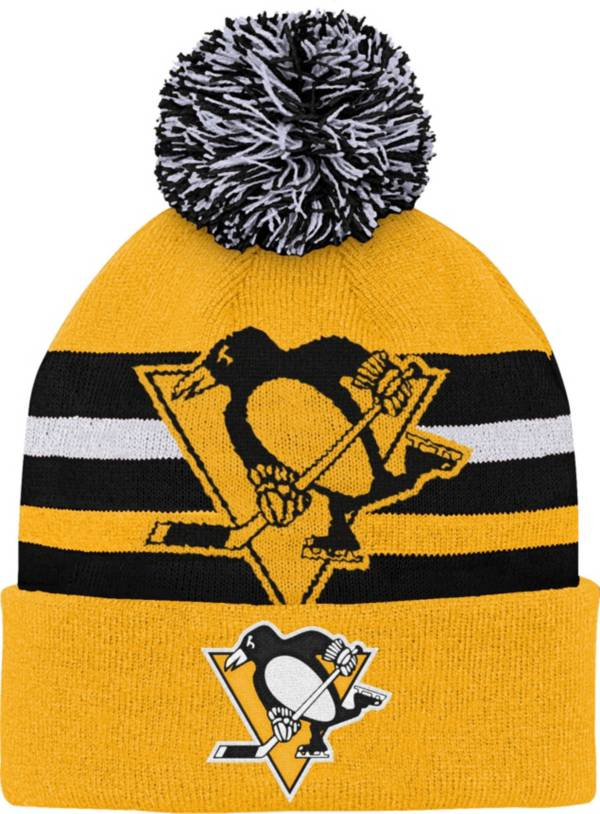 NHL Youth Pittsburgh Penguins Heritage Gold Cuffed Knit Hat product image