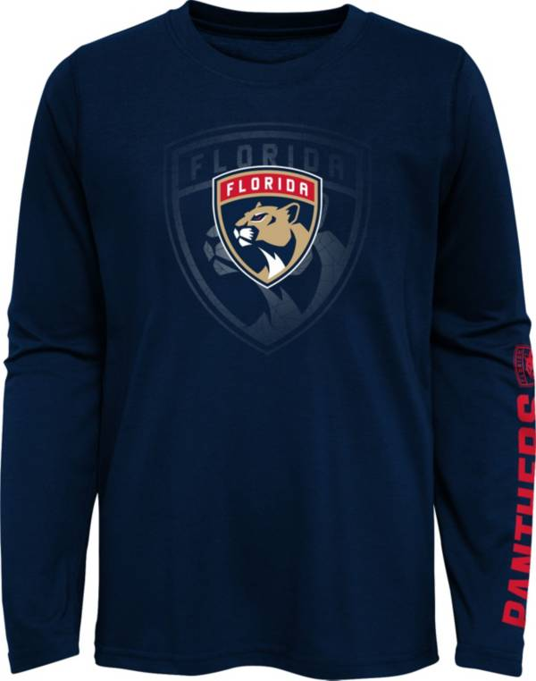NHL Youth Florida Panthers Stop Clock Navy Long Sleeve T-Shirt product image