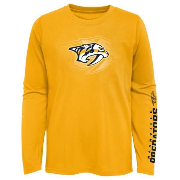 NHL Youth Nashville Predators Stop Clock Gold T-Shirt product image