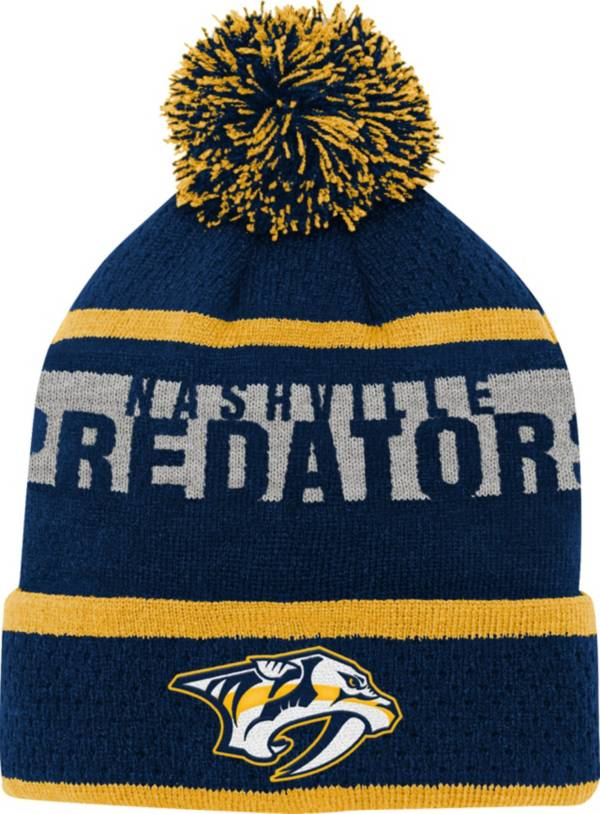 NHL Youth Nashville Predators Heritage Navy Cuffed Knit Hat product image