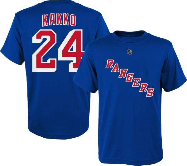 NHL Youth New York Rangers Kaapo Kakko # 24 Royal Player T-Shirt product image