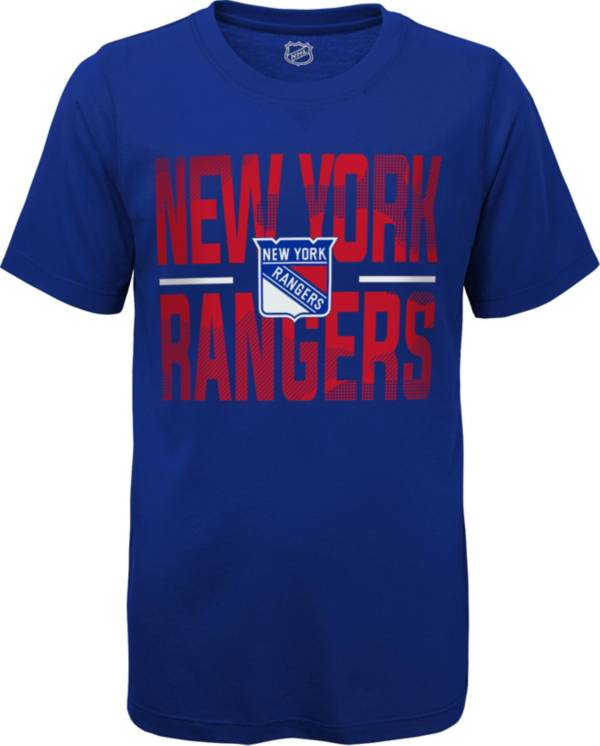 NHL Youth New York Rangers Hussle Blue T-Shirt product image