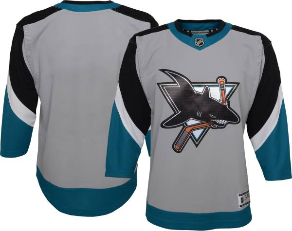 NHL Youth San Jose Sharks Special Edition Premier Grey Blank Jersey product image
