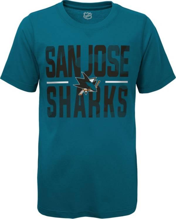 NHL Youth San Jose Sharks Hussle Blue T-Shirt product image