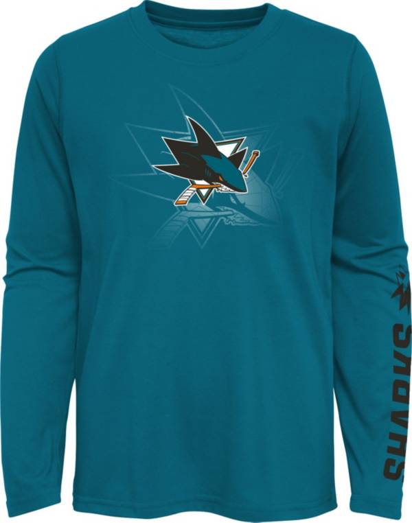 NHL Youth San Jose Sharks Stop Clock Blue Long Sleeve T-Shirt product image