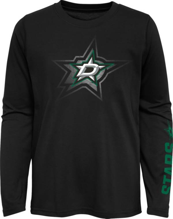 NHL Youth Dallas Stars Stop Clock Black Long Sleeve T-Shirt product image