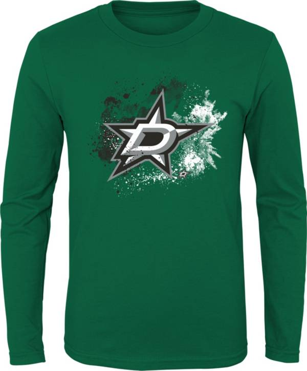 NHL Youth Dallas Stars Splashin' Green Long Sleeve Shirt product image