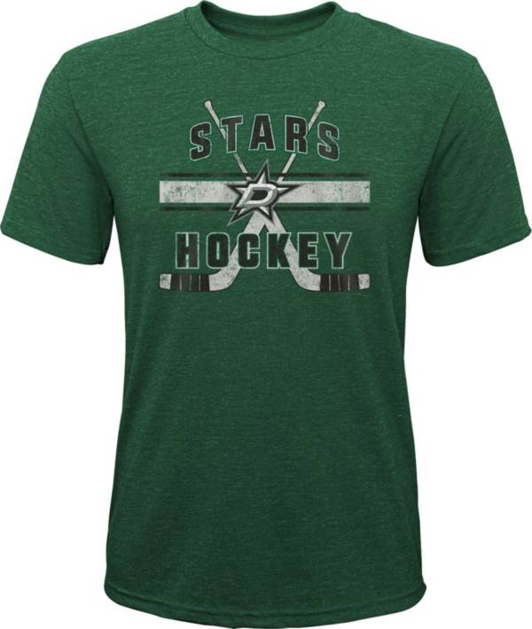 NHL Youth Dallas Stars Stripe Tri-Blend Green T-Shirt product image