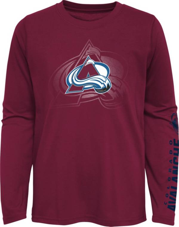 NHL Youth Colorado Avalanche Stop Clock Red Long Sleeve T-Shirt product image