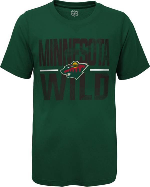 NHL Youth Minnesota Wild Hussle Green T-Shirt product image