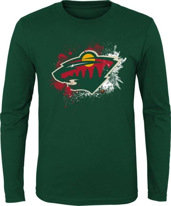 NHL Youth Minnesota Wild Splashin' Green Long Sleeve Shirt product image