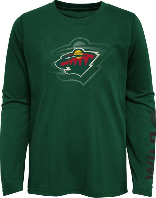 NHL Youth Minnesota Wild Stop Clock Green Long Sleeve T-Shirt product image