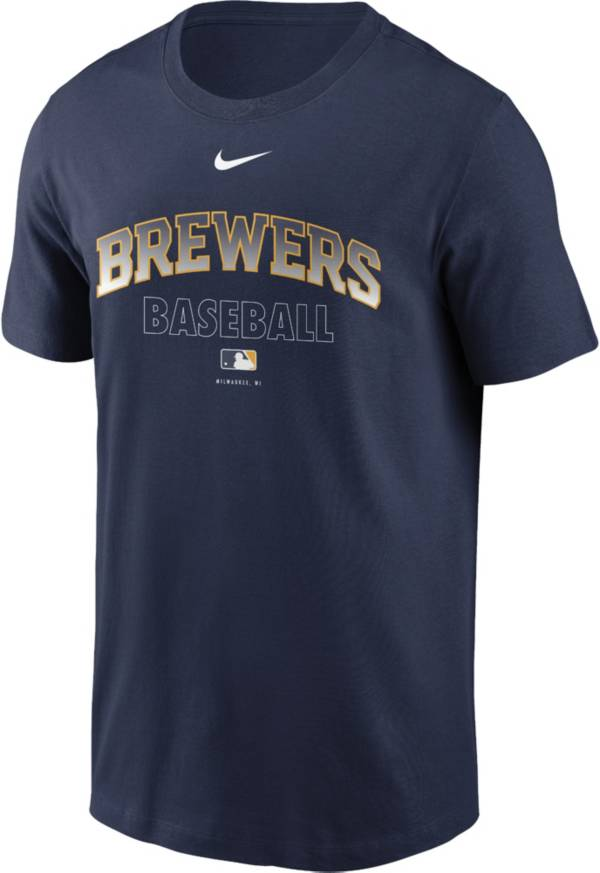 Nike Men's Milwaukee Brewers Navy Authentic Collection Legend Dri-FIT T-Shirt product image