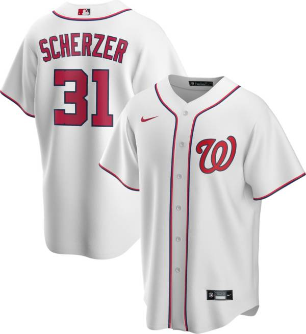 Nike Men's Replica Washington Nationals Max Scherzer #31 Cool Base White Jersey product image