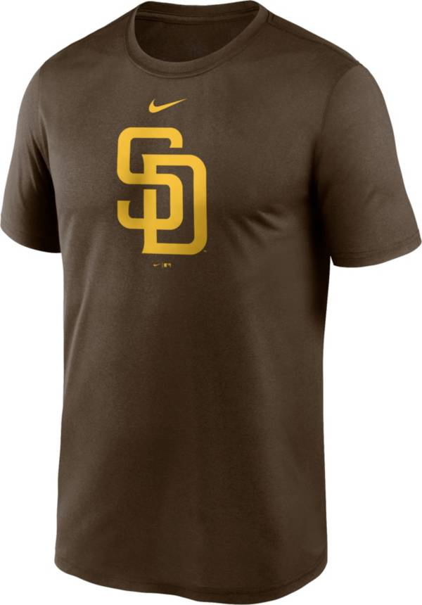 Nike Men's San Diego Padres Brown Large Logo Legend Dri-FIT T-Shirt product image